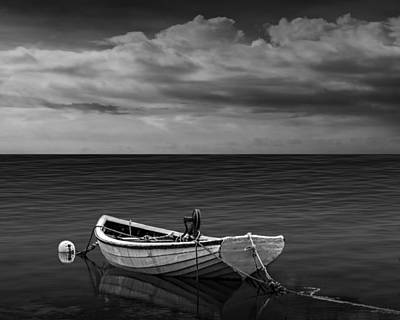 Photograph - Boat Under A Cloudy Sky by Randall Nyhof