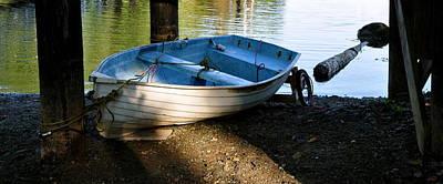 Photograph - Boat Under The Bridge by Caroline Reyes-Loughrey