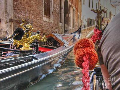 Pyrography - boat Venice by Yury Bashkin