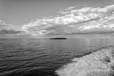 Boat Wake On Florida Bay Art Print