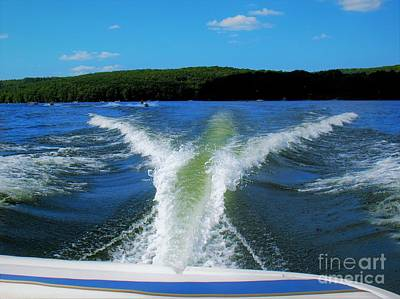 Boat Wake Art Print by Patti Whitten