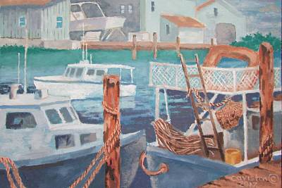 Painting - Boat Works by Tony Caviston