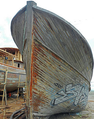 Photograph - Boat Yard 6 by Ron Kandt