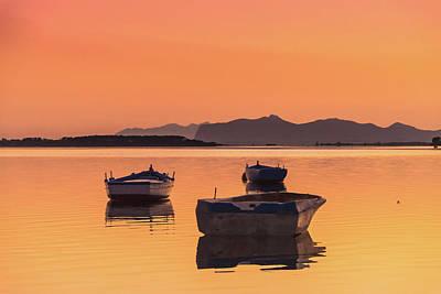 Photograph - Boata And Island In Sicily by Emilio Messina