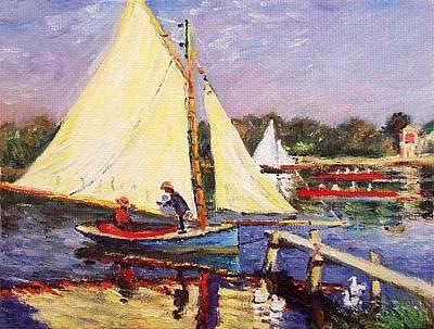 Boaters At Argenteuil Original by Peter Kupcik