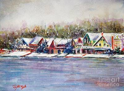 Painting - boathous Row Winter by Joyce A Guariglia