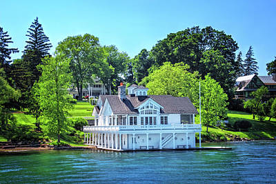 Photograph - Boathouse Along Skaneateles Lake by Carolyn Derstine