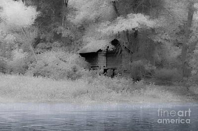 Boathouse Blues Art Print by Sabrina Ramina