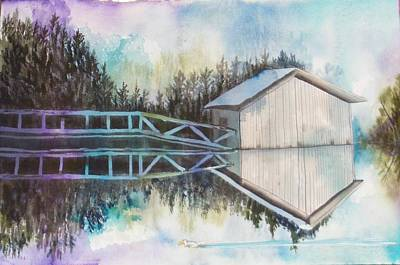 Boathouse Art Print