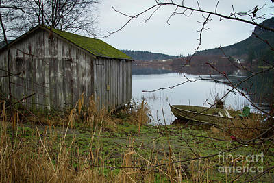 Photograph - Boathouse by Idaho Scenic Images Linda Lantzy
