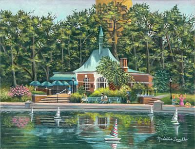 Painting - Boathouse In Central Park, N.y. by Madeline Lovallo