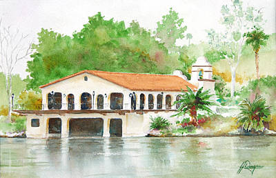 Boathouse Morning Art Print by John Dougan