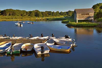 Photograph - Boathouse On Lake by Jack Nevitt