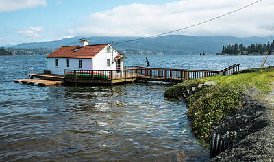 Photograph - Boathouse On Lake Whatcom by Tom Cochran