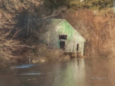 Painting - Boathouse On Solstice by Bill McEntee