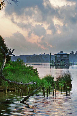 Photograph - Boathouse On The Bon Secour Vertical by Michael Thomas