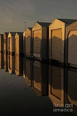 Photograph - Boathouse Reflection by Jim Corwin