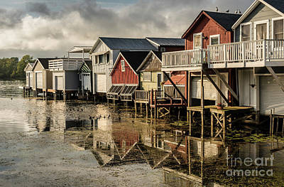 Photograph - Boathouse Reflections by Joann Long