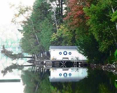 Photograph - Boathouse Reflections by Stephanie Moore
