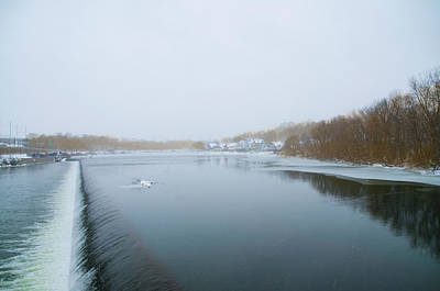 Phillies Photograph - Boathouse Row From Fairmount Dam In Winter by Bill Cannon