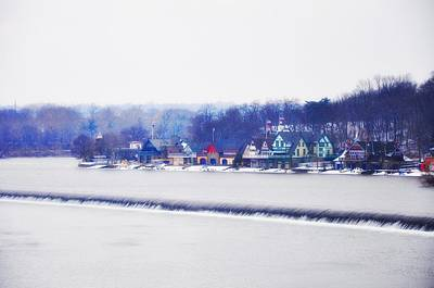 Boathouse Row In Winter Art Print