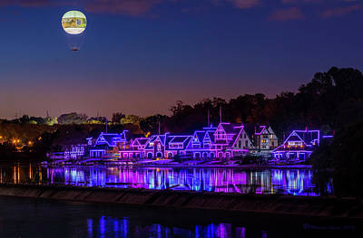 Balloons Photograph - Boathouse Row by Marvin Spates