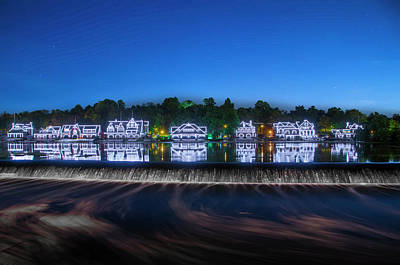 Photograph - Boathouse Row Night Scene by Bill Cannon