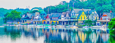 Boathouse Row On The Schuylkill River In Philadelphia Print by Bill Cannon