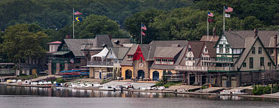 Boathouse Row Philadelphia Pa  Print by Terry DeLuco