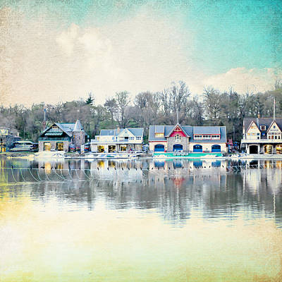 Boathouse Row Philadelphia Pa V1 Art Print by Brandi Fitzgerald