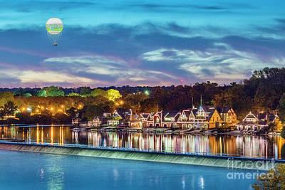 Photograph - Boathouse Row River Sunset Reflections by David Zanzinger