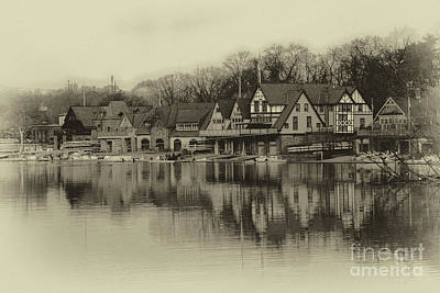 Kelly Drive Photograph - Boathouse Row by Tom Gari Gallery-Three-Photography