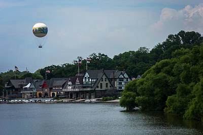 Photograph - Boathouse Row With Zoo Balloon Philadelphia by Terry DeLuco