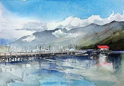 Boathouse Art Print by Stephanie Aarons
