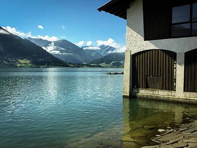 Photograph - Boathouse  Zeller See, Prielau, Salzburgerland, Austria by Alex Saunders