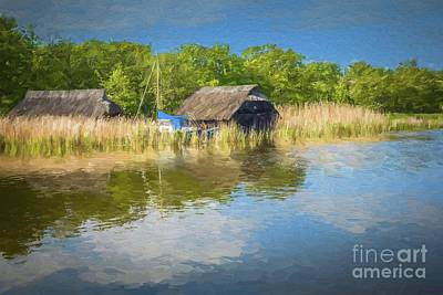 Photograph - Boathouses by Eva Lechner