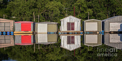 Latsch Island Photograph - Boathouses In A Row by Kari Yearous