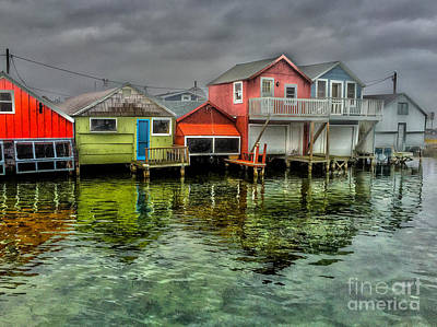 Photograph - Boathouses by William Norton