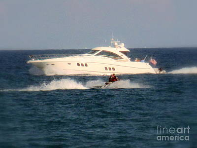 Photograph - Boating And Jet Skiing  by Kay Novy