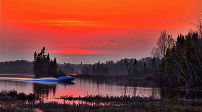 Photograph - Boating At First Light by Alain Audet