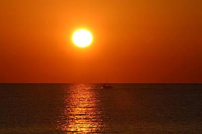 Photograph - Boating At Sunrise by Robert Banach