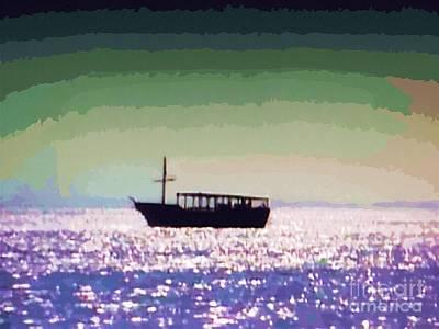 Boating Home Art Print by Deborah MacQuarrie-Selib