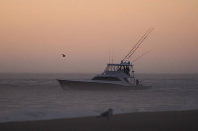Photograph - Boating Into A Foggy Dawn by Robert Banach