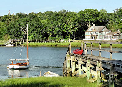 Photograph - Boating Season Duxbury Ma by Janice Drew