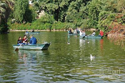 Photograph - Boating Lake In Barcelona by David Fowler