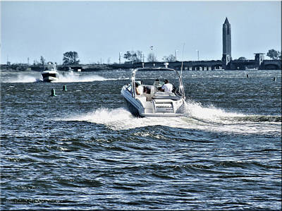 Photograph - Boating Off Of Jones Beach by Mikki Cucuzzo