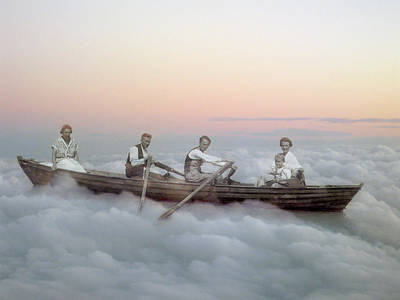 Boating On Clouds Art Print by Martina Rall