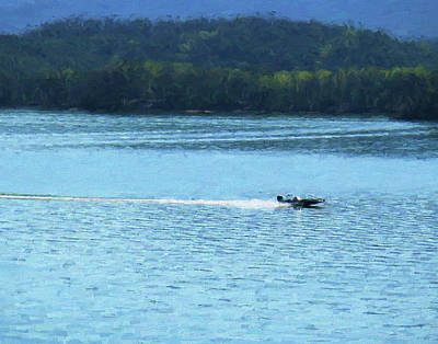 Photograph - Boating On South Holston Lake by Denise Beverly