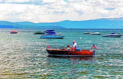 Photograph - Boating On Tahoe by Nancy Marie Ricketts