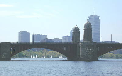 Boating On The Charles Art Print by Laura Lee Zanghetti